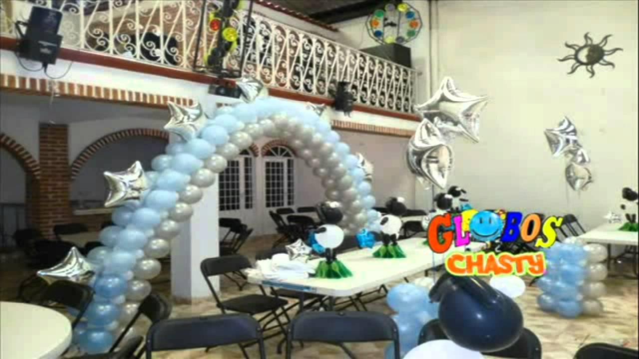 Arcos con globos por chasty youtube - Decoraciones en color plata ...
