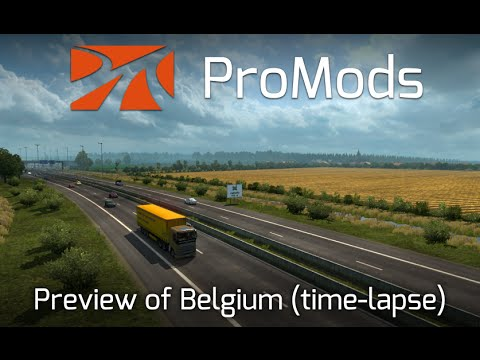 Preview Time-Lapse (250%) of Belgium in ProMods 2.10