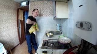 Картошка жареная на сале с луком  Готовим не глядя