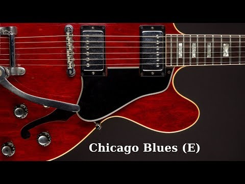 Chicago Blues Shuffle | Guitar Backing Jam Track (E)
