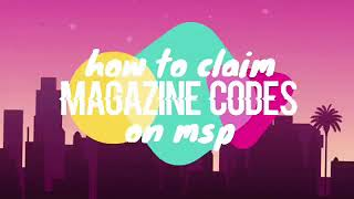 How to redeem the code from magazine 02/2019 on moviestar planet