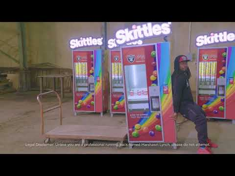 Marshawn Lynch Shares Free Skittles with Oakland
