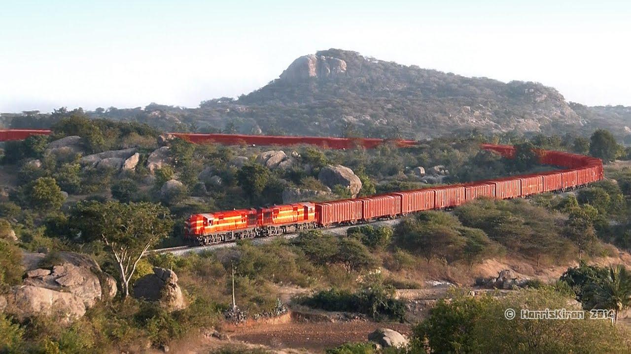 horse shoe curve indian railways   freight train