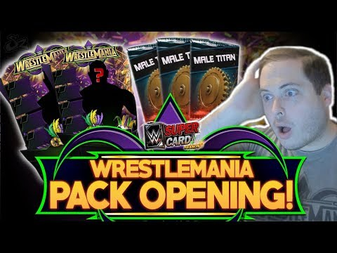 WRESTLEMANIA 34 (WM34) 125K PACK OPENING!! INSANE LUCK! | WWE SuperCard S4