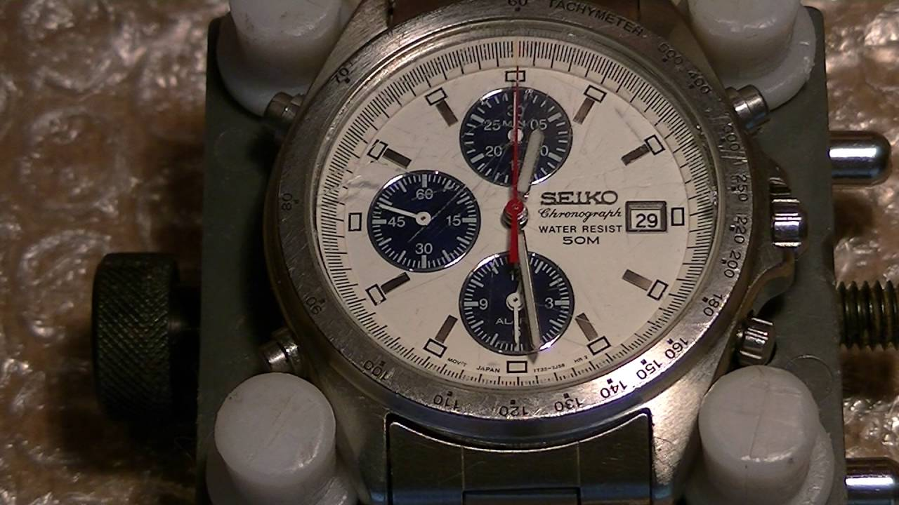 375df0d71 Seiko 7T32-7F80 Quartz Chronograph fully restored by ...