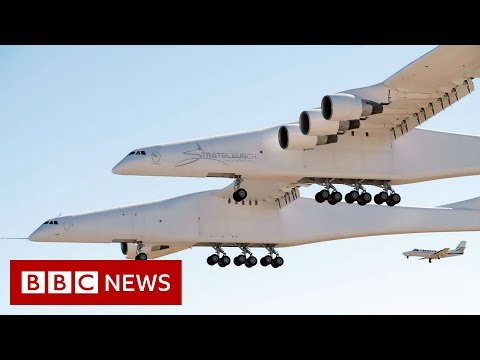 'World's largest plane' takes to the air - BBC News