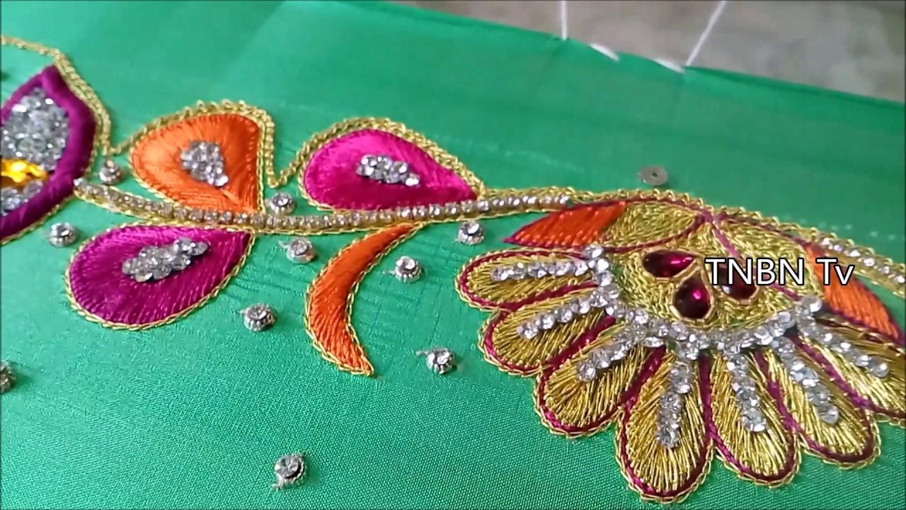 Simple Maggam Work Blouse Designs Zari Work For Beginners Thread