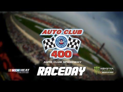 DO WE HAVE ENOUGH GAS?! (Auto Club 400 at Fontana - Raceday) - NASCAR Heat Evolution