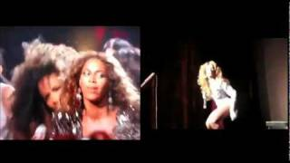 "SHANGELA-BEYONCE ""Single Ladies"" VMA 2009 SPLIT SCREEN!"