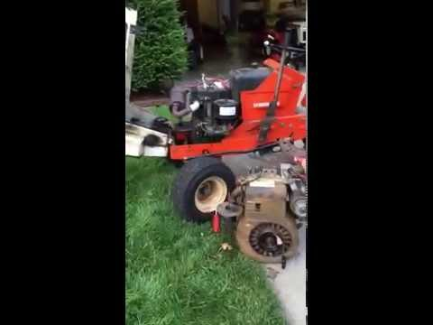 Junkyard 16hp Briggs firing up