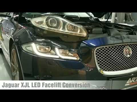 Jaguar XJL Xenon To LED Headlight Conversion