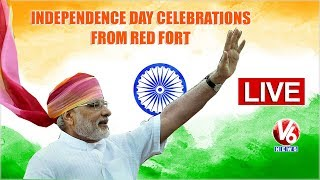 PM Modi LIVE: Independence Day Celebrations From Red Fort | V6 News