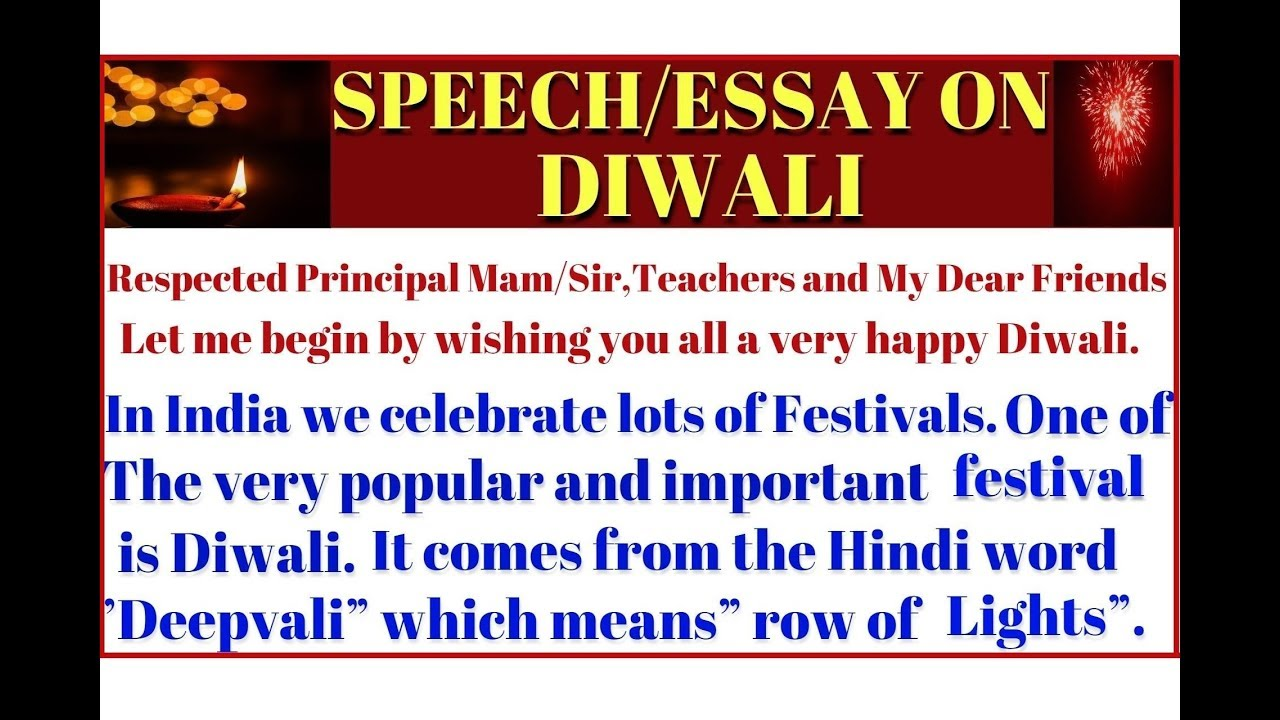 Health Is Wealth Essay  Start An Essay also Art College Essay Easy Essayspeech On Diwali For Kids In English  Essayspeech On My  Favourite Festival  Diwali Essay Thesis Statement Generator