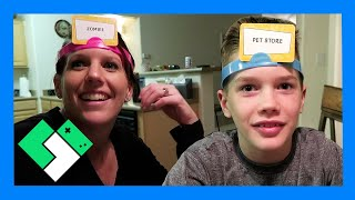 SILLY FAMILY GAME NIGHT // HEDBANZ ACT UP (Day 1770)   Clintus.tv
