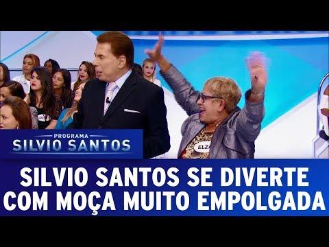 Silvio Santos se diverte com moça MUITO empolgada | Programa Silvio Santos (13/08/17)