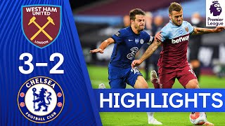 West Ham 3 2 Chelsea | Premier League Highlights