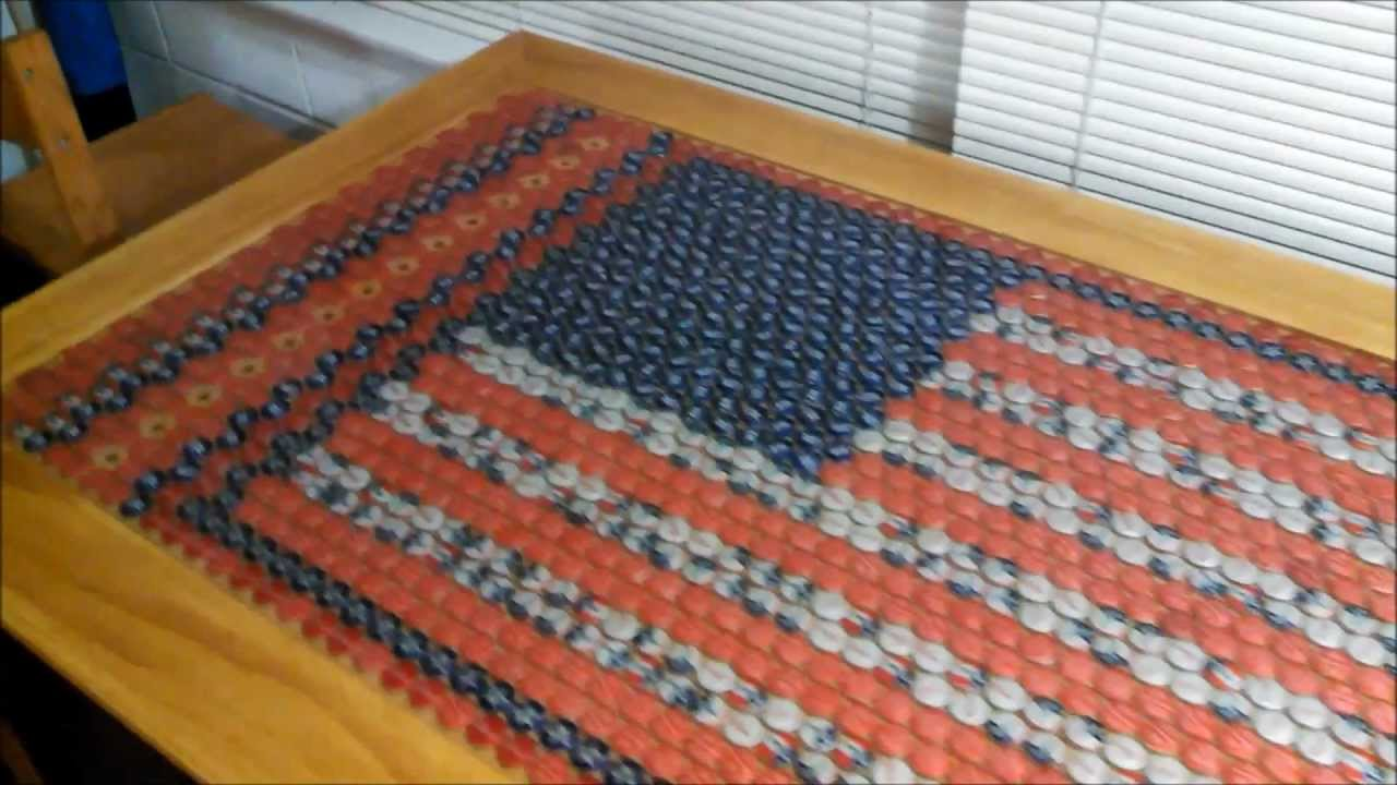 Bottle Cap Table 1700 Caps with Lights that Pulse to Music YouTube