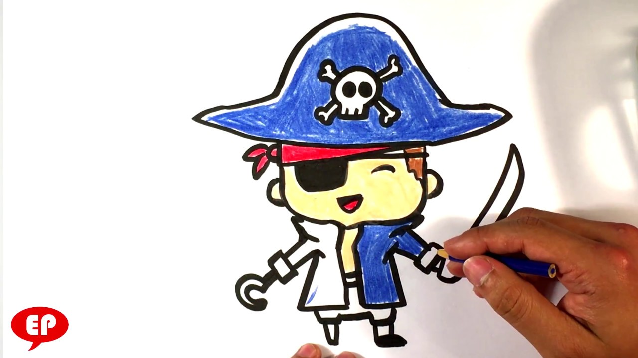 Simple Pirate Ship Drawing Easy