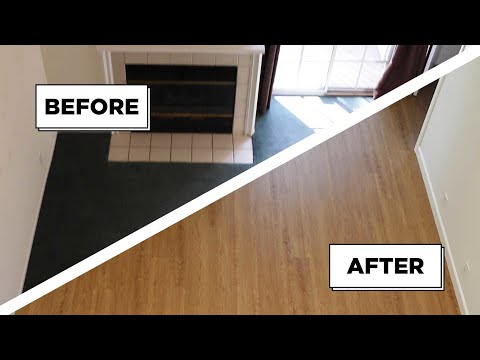 Carpet To Faux Wood Floor Transformation