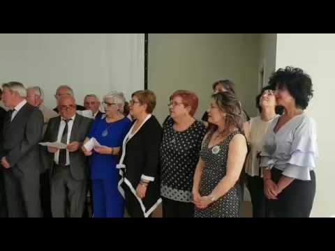 A sociedade cultural La Unión de Sarria presenta o himno do seu centenario