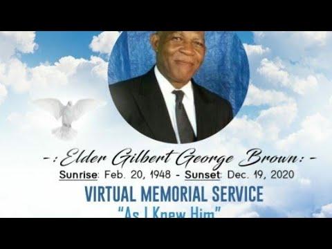 Download Elder Gilbert G. Brown's Virtual Memorial Service