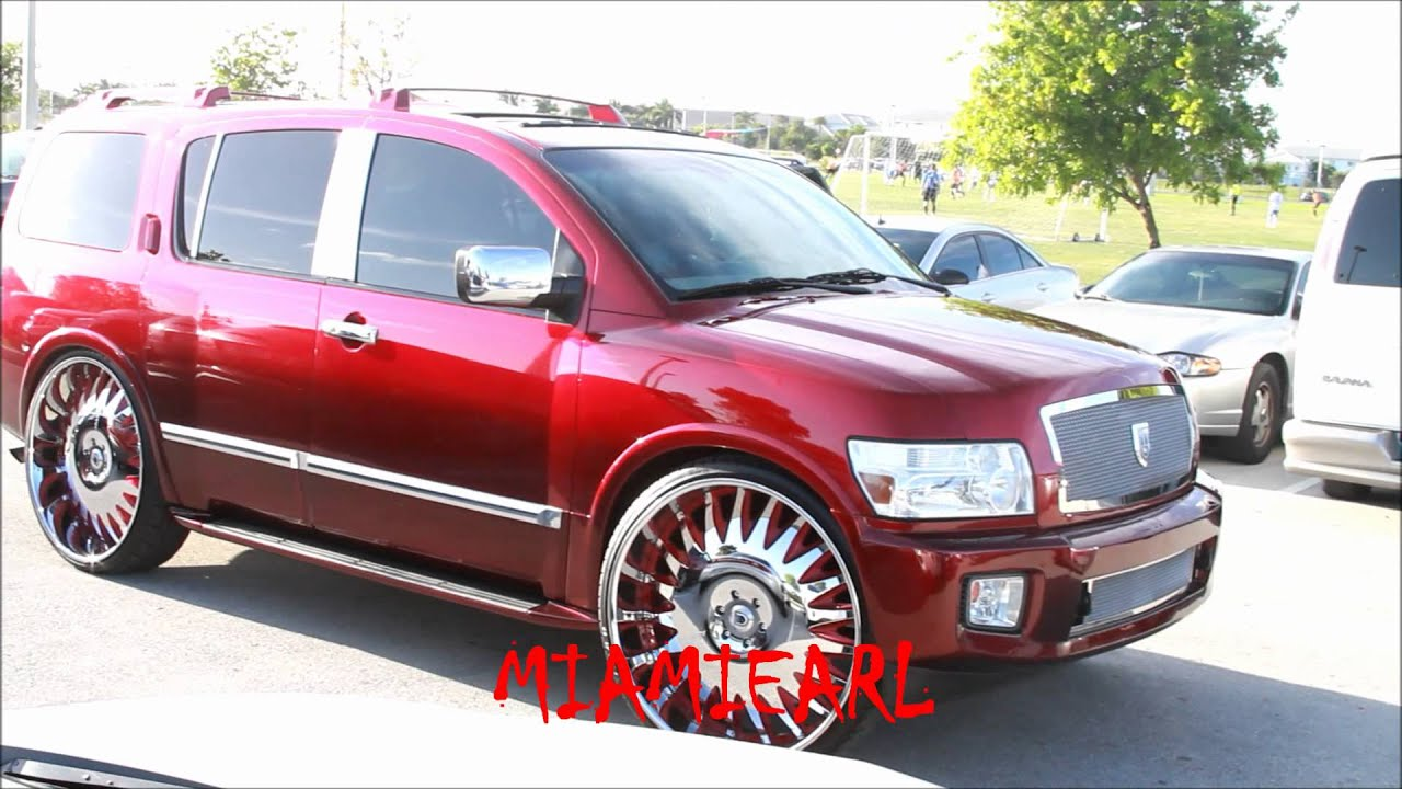 Candy red infiniti qx56 on 30 asantis and buick skylark on 26 candy red infiniti qx56 on 30 asantis and buick skylark on 26 dub swryl floaters youtube vanachro Image collections