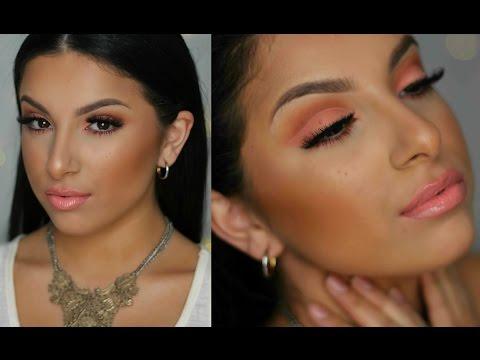 Peach Cut Crease Makeup Tutorial | Makeup By Leyla