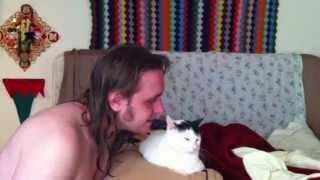 Naked man vs cat rap battle