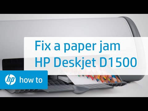 Fixing a Paper Jam - HP Deskjet D1500 Printer