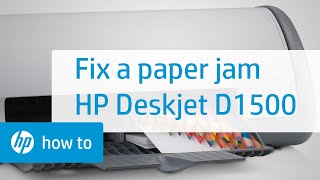 Fixing a Paper Jam - HP Deskjet D1500 Printer