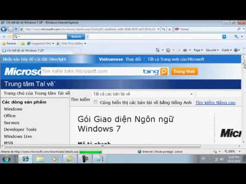 Cai dat giao dien Tieng Viet cho Windows 7