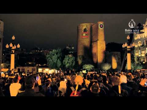 3D projection on Maiden's Tower | Baku 2015