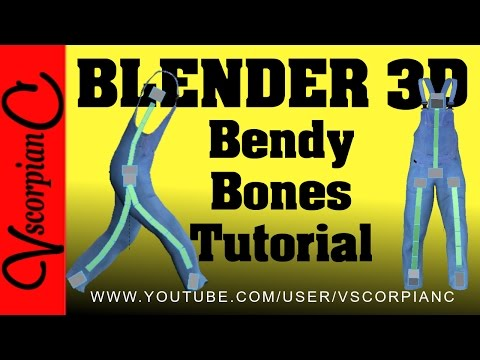 Blender 3d Tutorial - How to Set Up & Animate Bendy Bones by VscorpianC