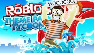 Roblox Adventures/Theme Park Tycoon 2/CRAZY COASTER água!