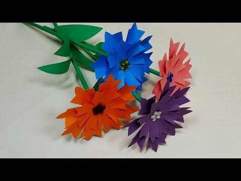DIY-Paper Flower Making Tutorial-How to Make Paper Flower Easily-Jarine's Crafty Creation