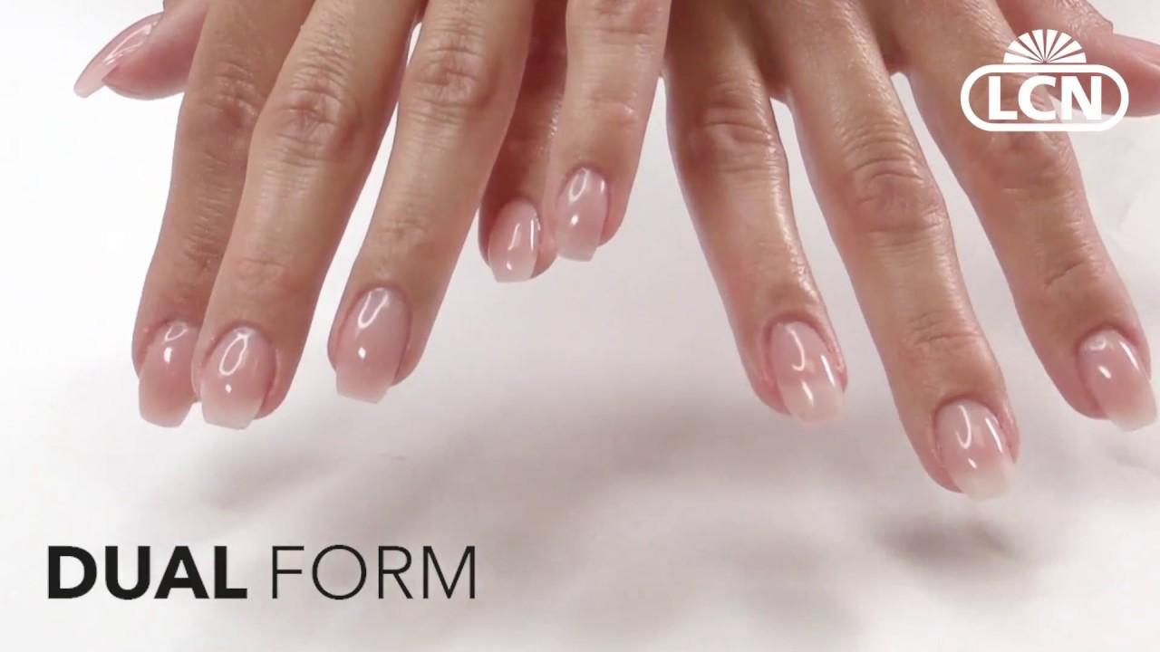 Dual Form Poly Acryl Gel Anleitung Mit Lcn Fusion Youtube