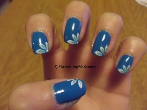 Video tutorial 13 Nail art unghie decorate con piccoli petali.By  Flaylook