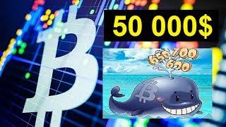 Биткоин по $50 000 благодаря поддержке китов | Курс Биткоина 2019
