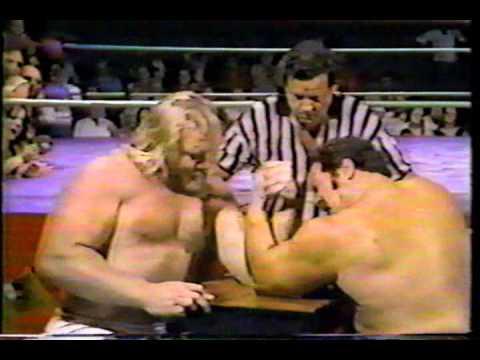 Big John Studd vs Ron Bass - Arm Wrestling Challenge!