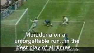 Maradona's goal against England '86. Crazy narrator's Translation to English