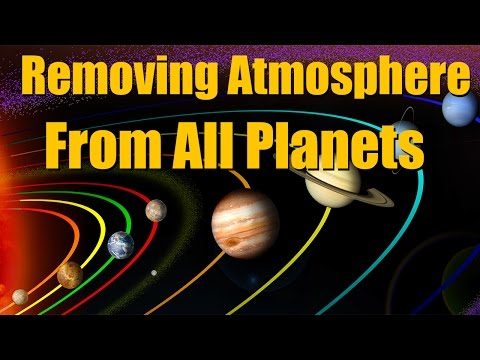 What if we removed atmosphere from all the planets - Universe Sandbox²
