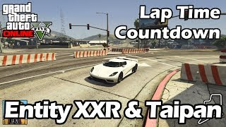 Fastest Supercars (Entity XXR & Taipan) - GTA 5 Best Fully Upgraded Cars Lap Time Countdown