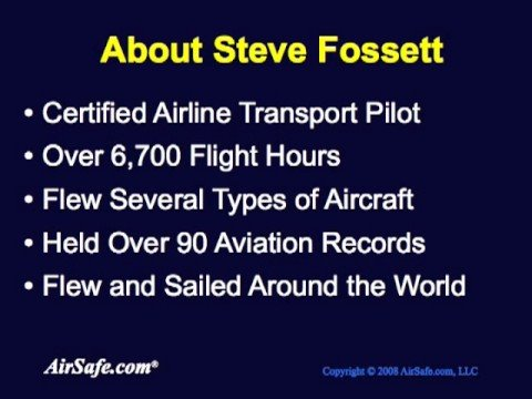 Image result for steve fossett in 2007
