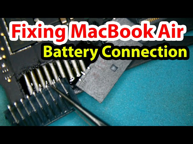 Repairing the Battery Connection on a MacBook Air A1466