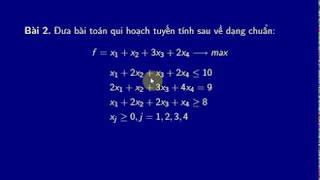 Bài toán qui hoạch tuyến tính dạng chuẩn