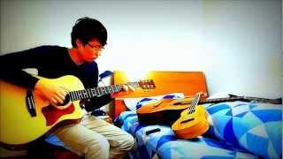 """""""A funny little bloody valentine"""" - Comptine d'un autre été acoustic guitar cover - Will F."""