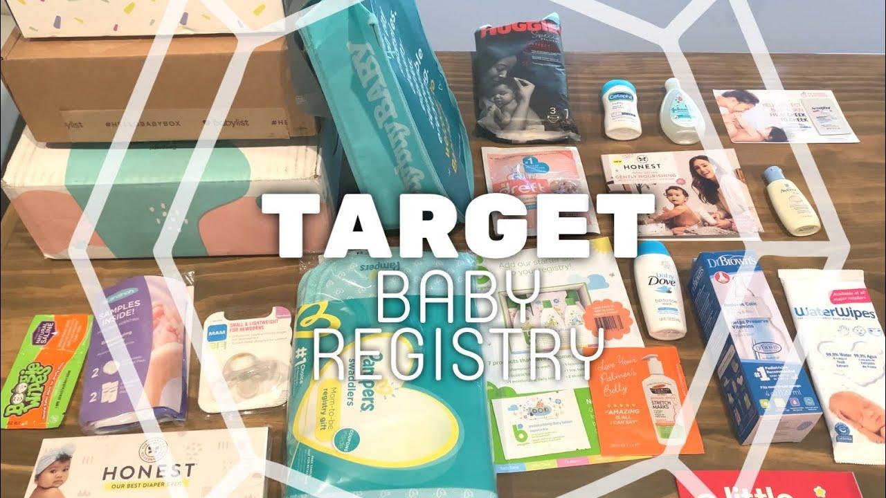2020 Free Target Baby Registry Gift Bag Baby Registry Box Youtube