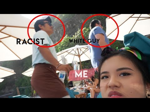 RACIST waiters in Bali give our seats to WHITE GUY