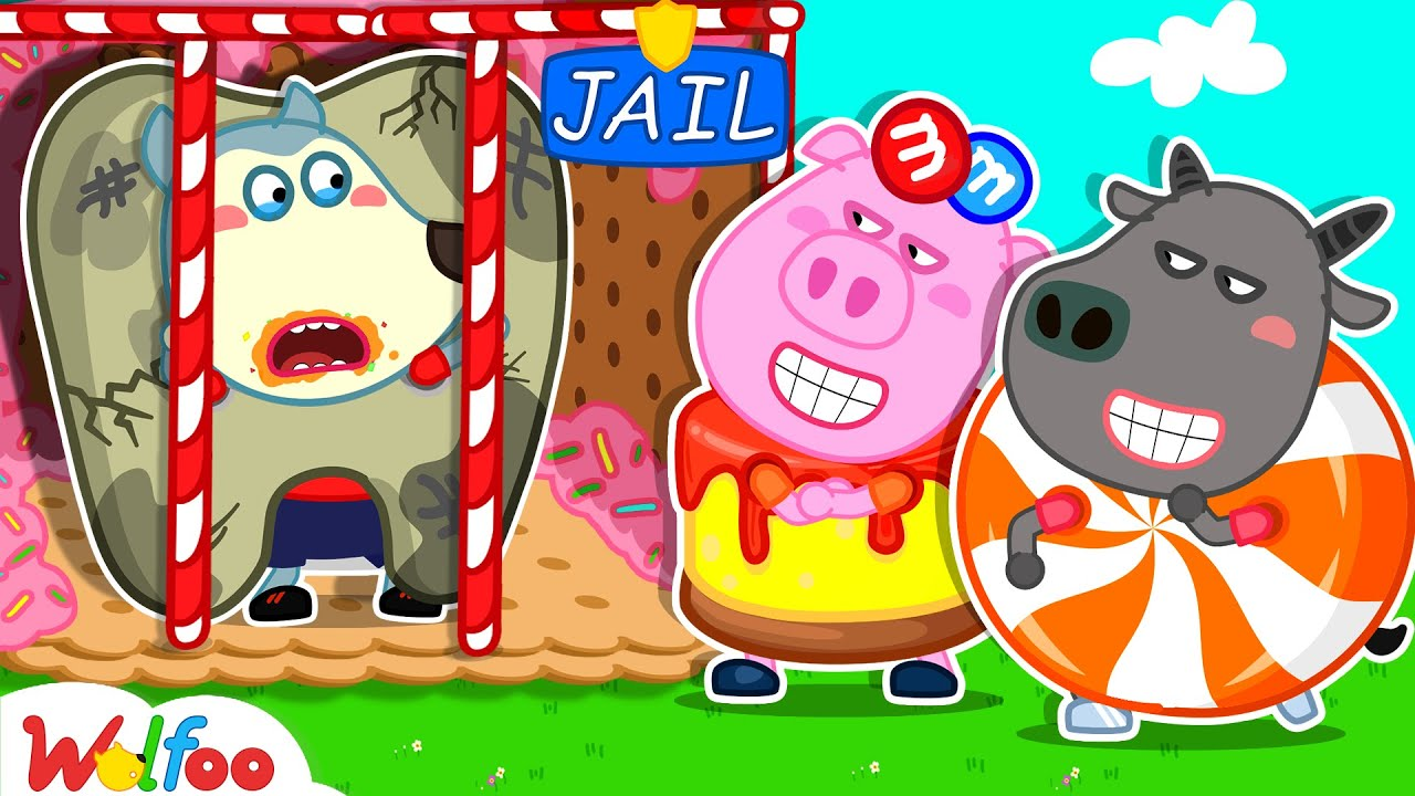 Download Wolfoo Tooth Locked Up in Candy Jail - Yes Yes Brush Your Teeth  - Kids Good Habits | Wolfoo Family