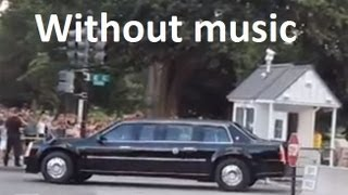 President Obama leaving the White House - Washington DC (No music)